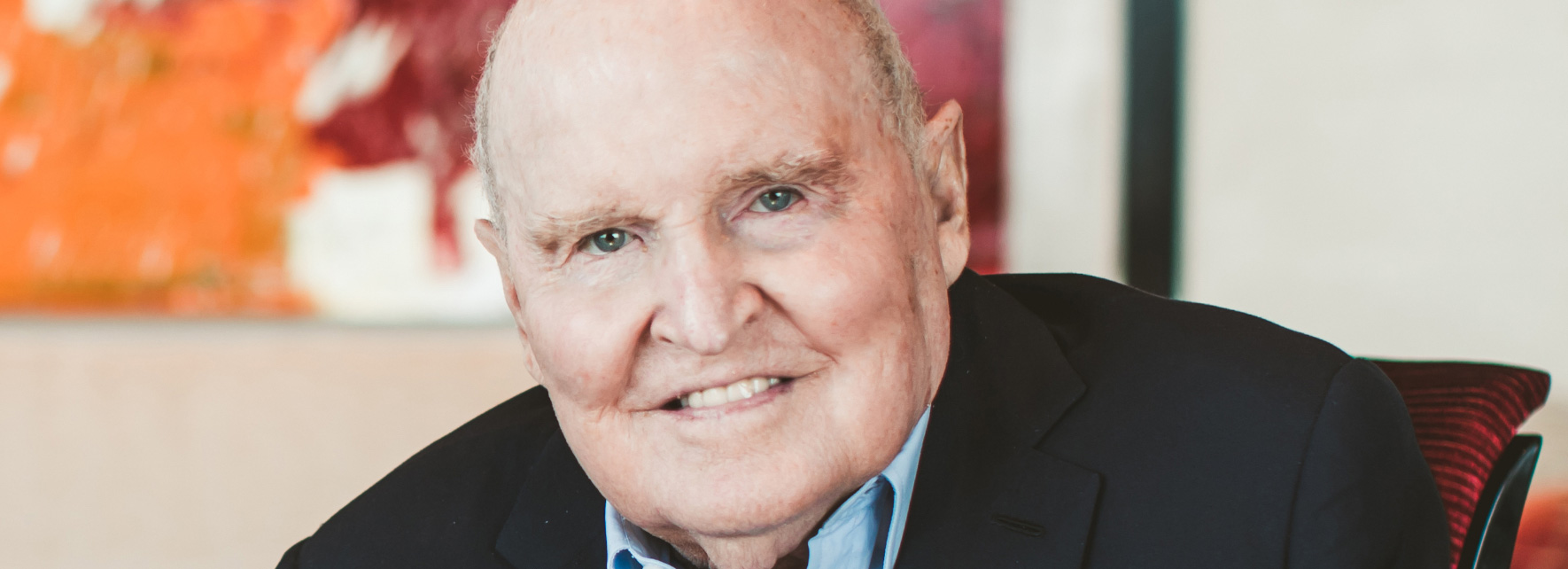Jack Welch smiling
