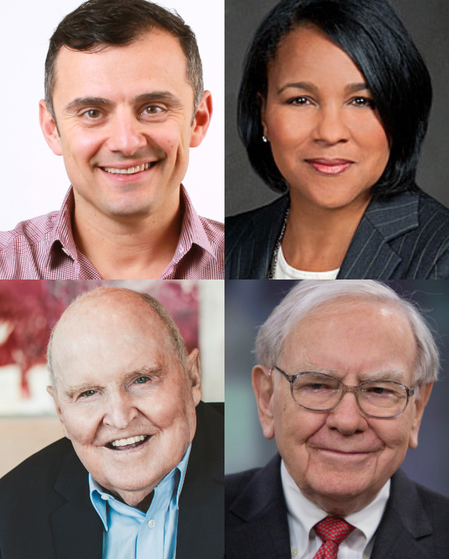 Gary Vaynerchuk, Rosalind Brewer, Jack Welch and Warren Buffett - JWMI EOPs