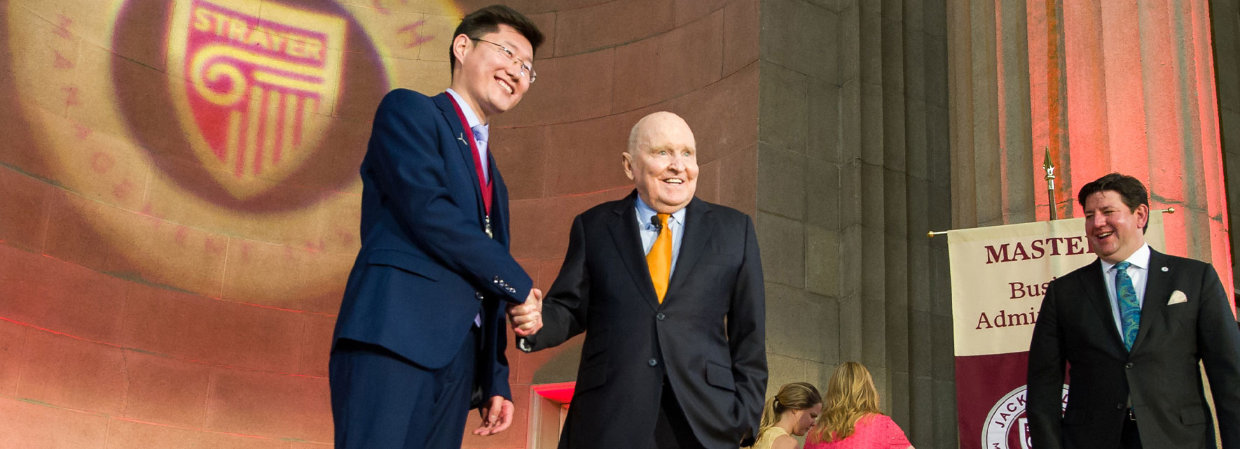 Jack Welch at JWMI Graduation