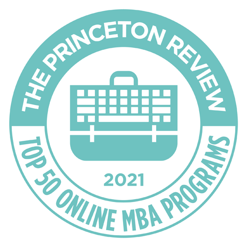 Princeton Review ranks JWMI in top 25 online mba schools.