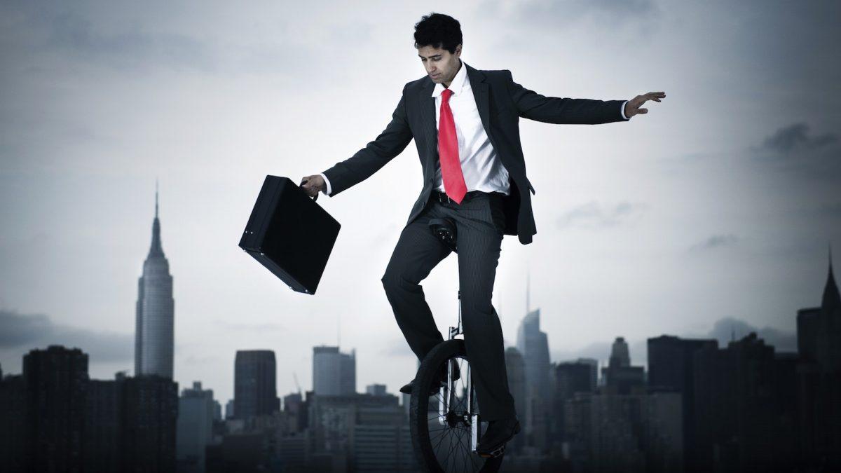 unicycle, suit, productivity, promotion