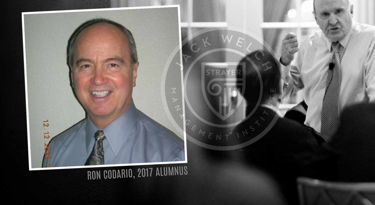 Ron Codario, Jack Welch MBA