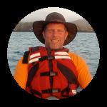 Deron Shields in kayak