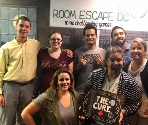 JWMI team at the escape room