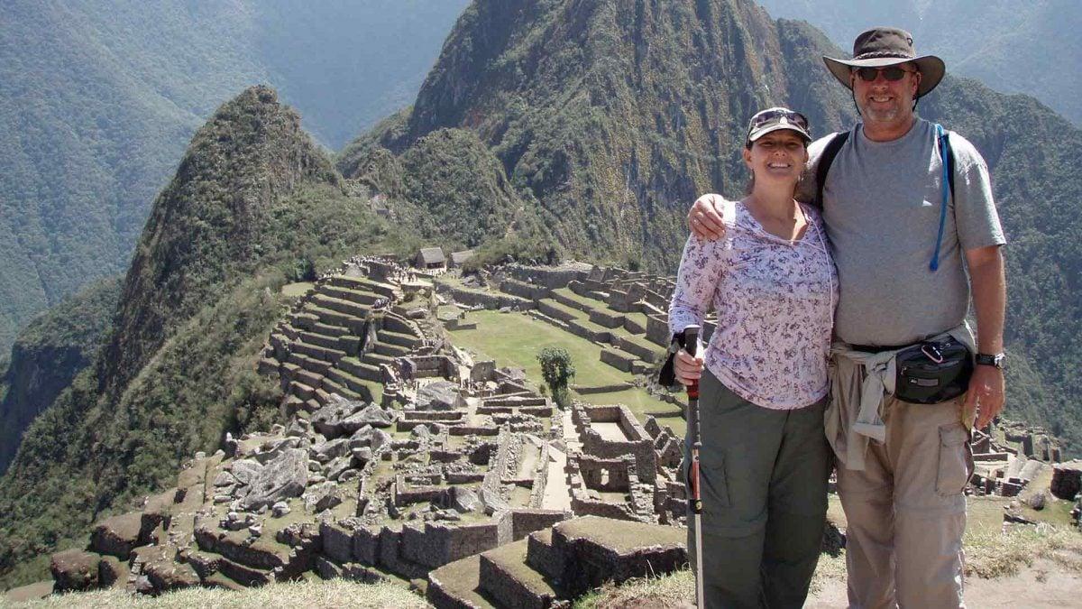 Deron Shields and wife, Eileen Musser at Macchu Picchu